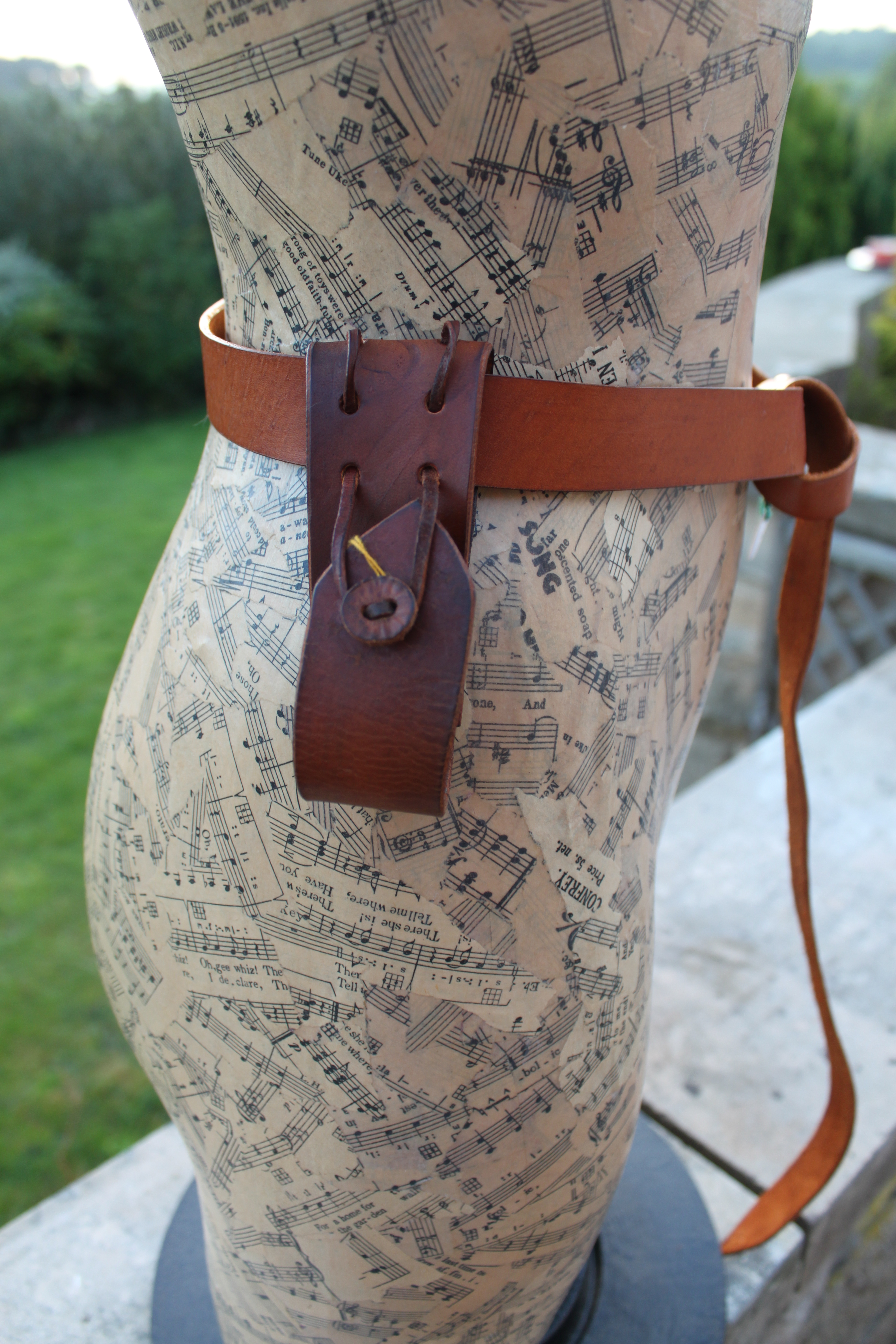 Belt Loop to hang Tankard from Belt by Evancliffe Leathercraft