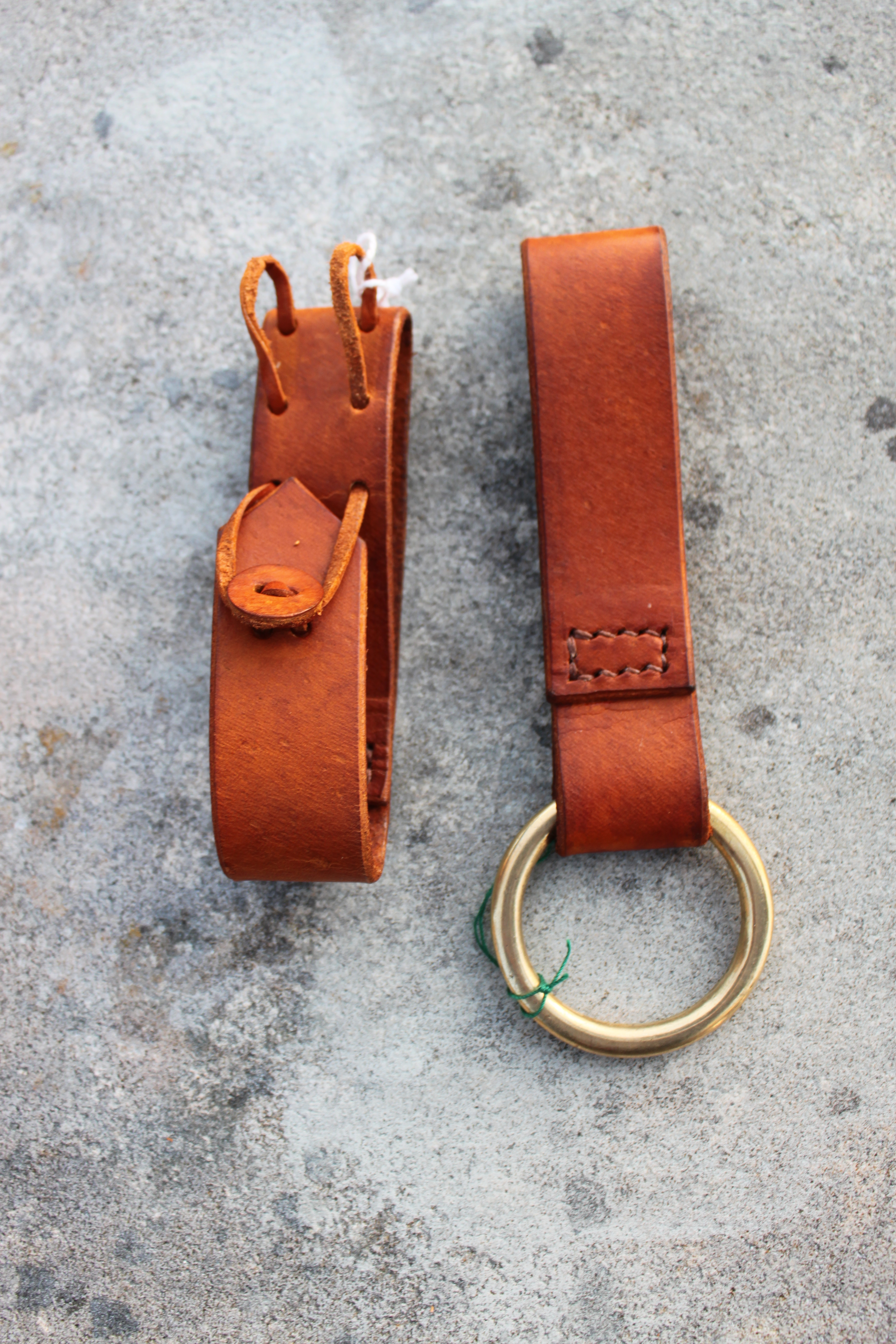 Tankard & Dagger Belt Loops by Evancliffe Leathercraft