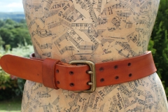 Double Pronged Leather Belt by Evancliffe Leathercrafty