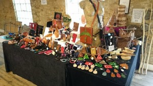 Evancliffe Leathercraft Stall (at a previous event.).
