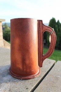Leather Tankard by Evancliffe leathercraft