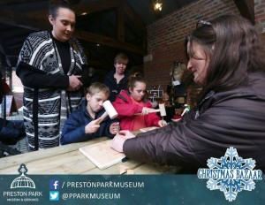 Leather Stamping at Preston Park Museum & Grounds Christmas Bazaar
