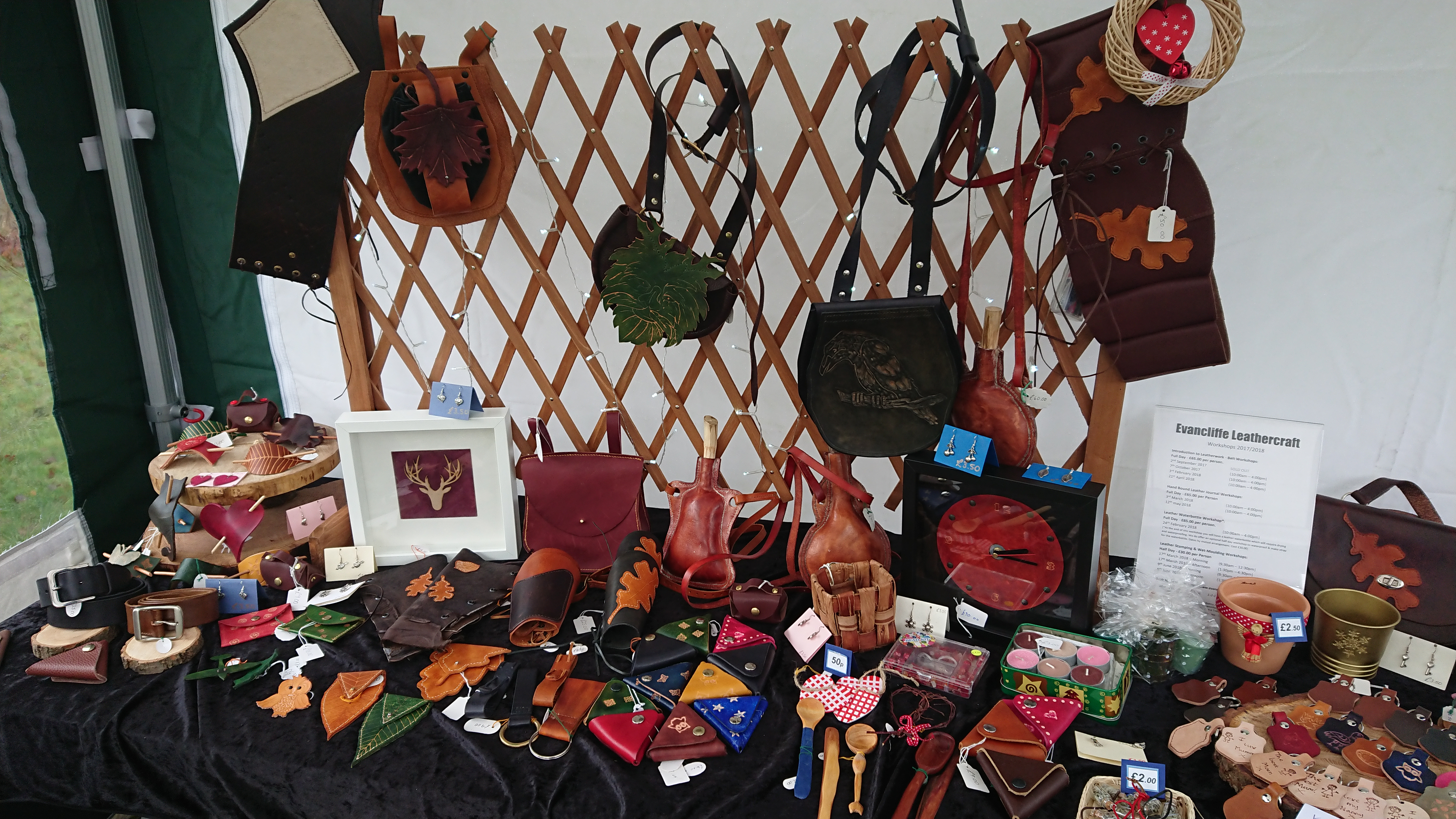 Evancliffe Leathercraft Stall