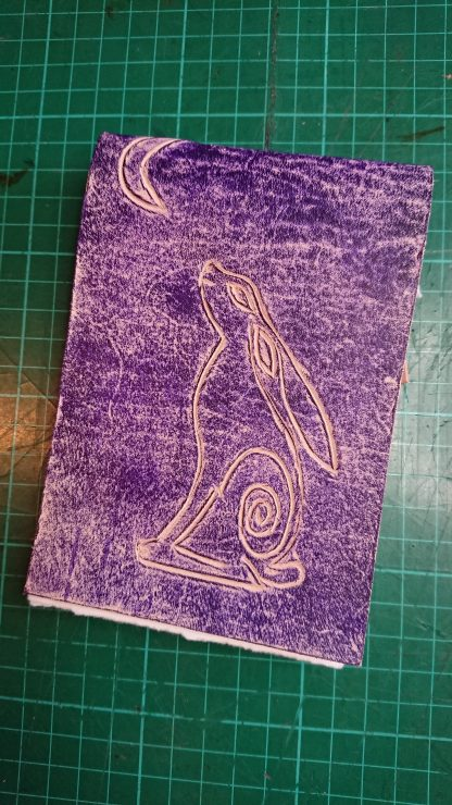Moon Gazing Hare Notebook by Evancliffe Leathercraft
