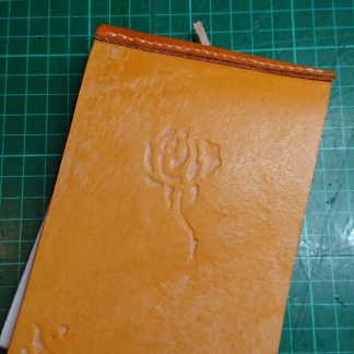 Rose Notebook by Evancliffe Leathercraft