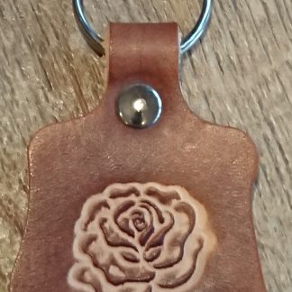 Rose Keyring Brown by Evancliffe Leathercraft