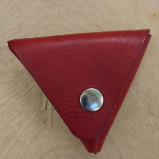 Samosa Coin Purse Red by Evancliffe Leathercraft
